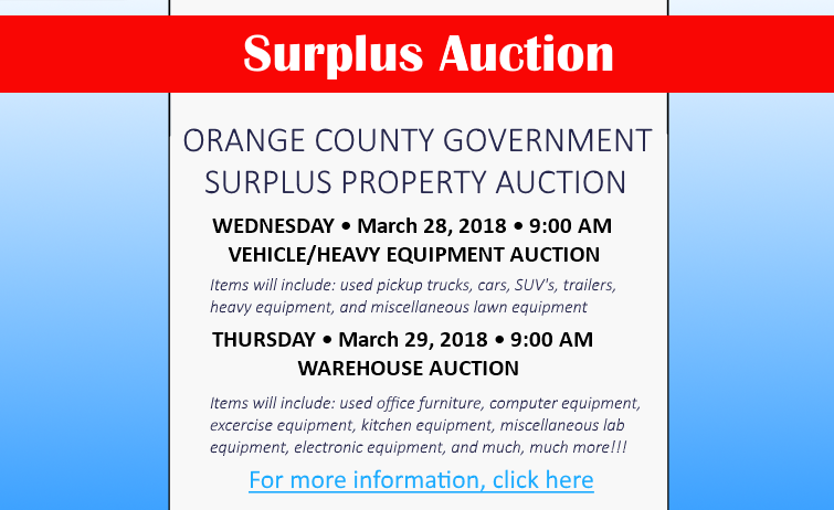 Surplus Auction 2018